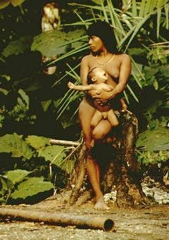Amazon:  Huaorani mother