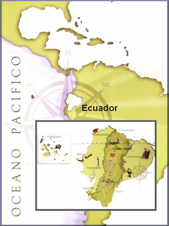 Ecuador: Map of South America and Ecuador